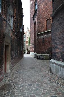 La ville de gdansk dans le nord de la pologne