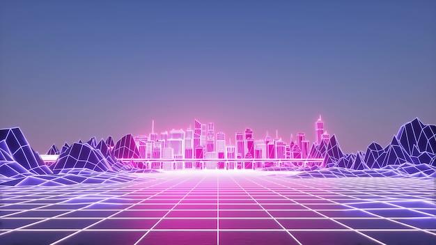 Ville intelligente numérique futuriste