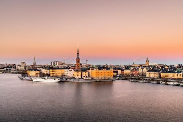 Ville de stockholm en suède.