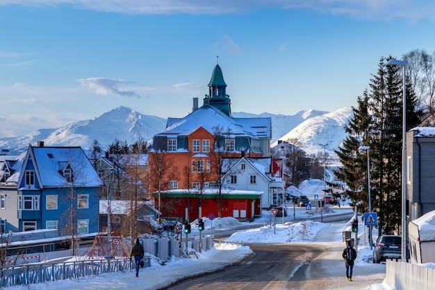 La ville de tromso en hiver norvège du nord