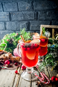 Vin chaud de noël traditionnel