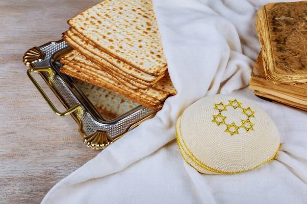 Vin et pain azyme pain de pâque juif