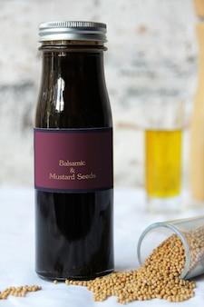 Vinaigrette aux graines de balsamique et de moutarde