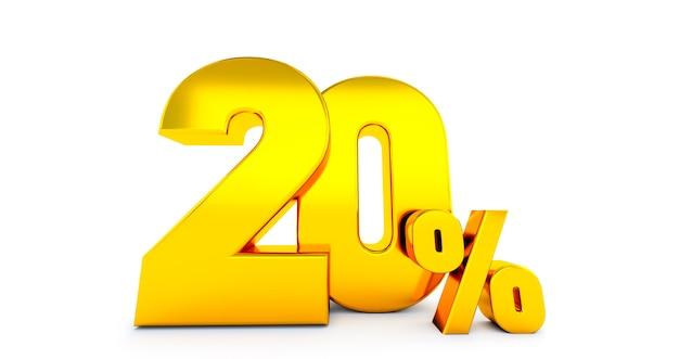 Vingt 20 pour cent