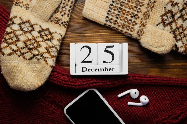 Vingt-cinquième jour du calendrier du mois d'hiver de décembre.