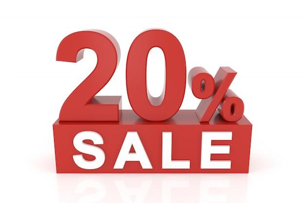 Vingt pour cent de vente