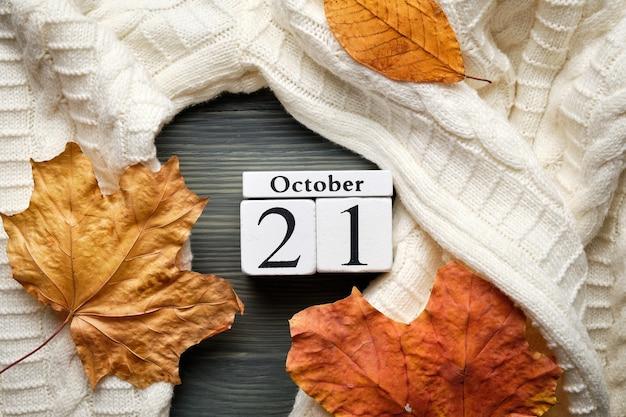 Vingt et unième jour du calendrier du mois d'automne octobre.
