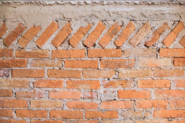 Vintage âgé rouge brun couleur cuit architectural texturé détaillé argile pierre bloc de brique mur design structurel intérieur pour mur extérieur