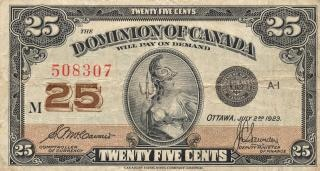 Vintage billets du dominion du canada usés