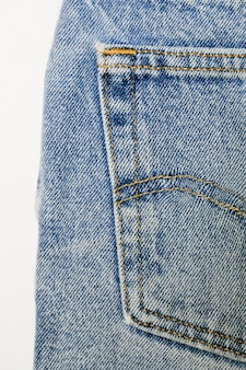 Vintage blue jeans close-up