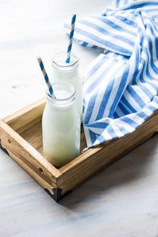 Vintage bouteilles de lait