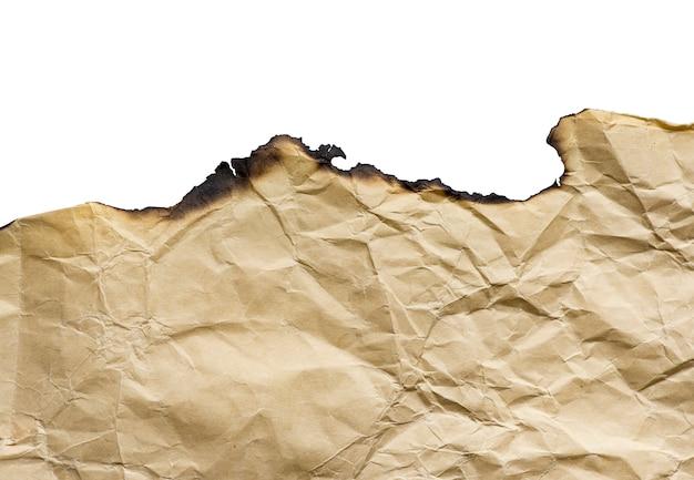 Vintage brun papier brûlé, détails isolés, grand fond, texture