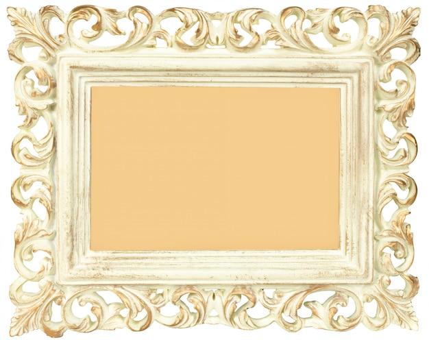 Vintage cadre photo blanc isolé