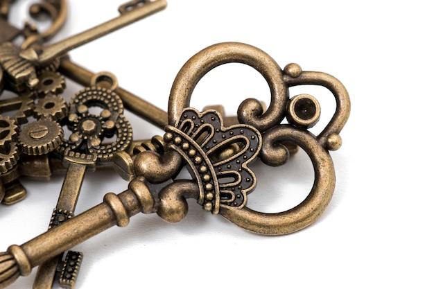 Vintage fantasy détaillée des clés d'or