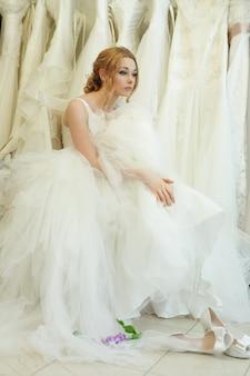 Vintage glamour jeune femme, mariée de rêve