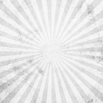 Vintage et motif sunburst blanc et gris avec espace.