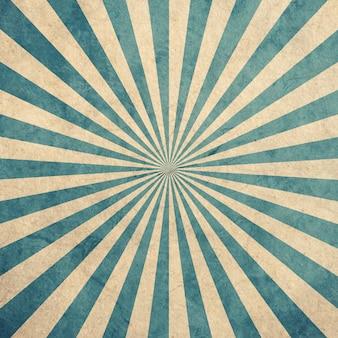 Vintage et motif sunburst bleu et blanc avec l'espace.