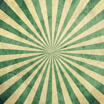 Vintage et motif sunburst vert et blanc avec l'espace.