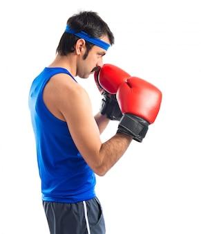 Vintage sport avec des gants de boxe