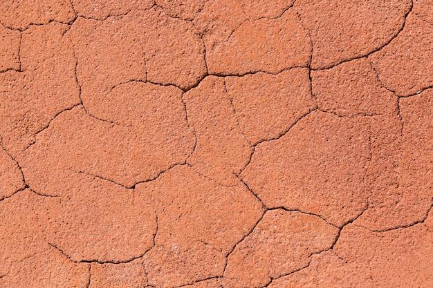 Vintage texture de roche fissurée rougeâtre