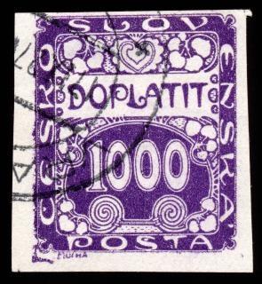 Violet art nouveau timbre