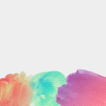 Violet texturé; aquarelle verte et rouge sur fond blanc