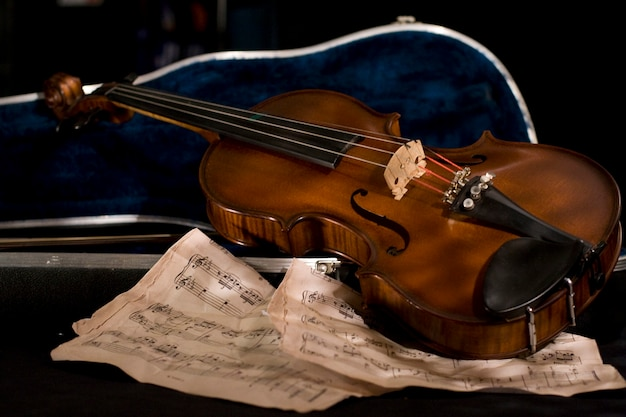 Violon avec feuille de musique