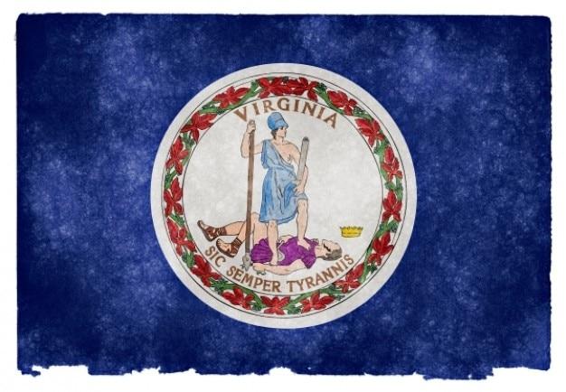 Virginia flag grunge