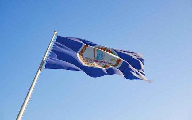Virginia us state flag low angle
