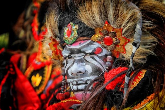 Visage barong typique est java indonésie