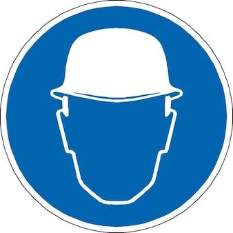 Visage homme protection tête contruction casque