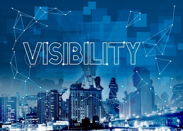 Visibilité visible observable concept graphique
