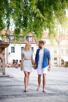 Visiter la vieille ville ensemble