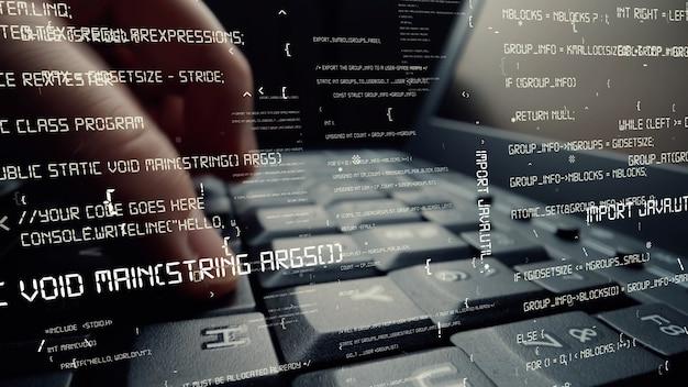 Visuel créatif du codage de la programmation informatique et du développement de logiciels