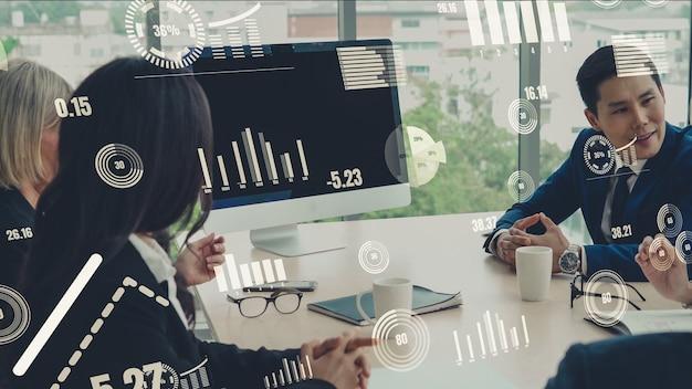 Visuel créatif de la technologie d'analyse des données commerciales