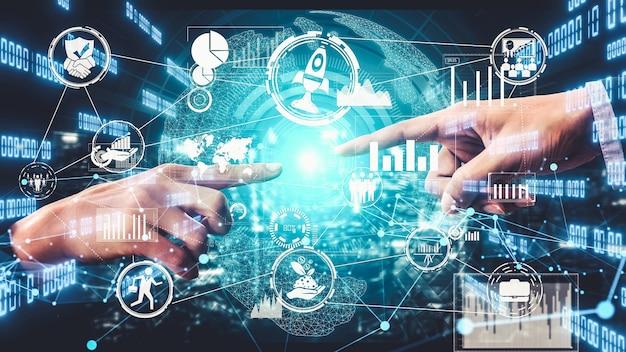 Visuel imaginatif de l'innovation et de la créativité des entreprises