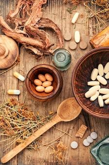 Vitamines, comprimés et pilules