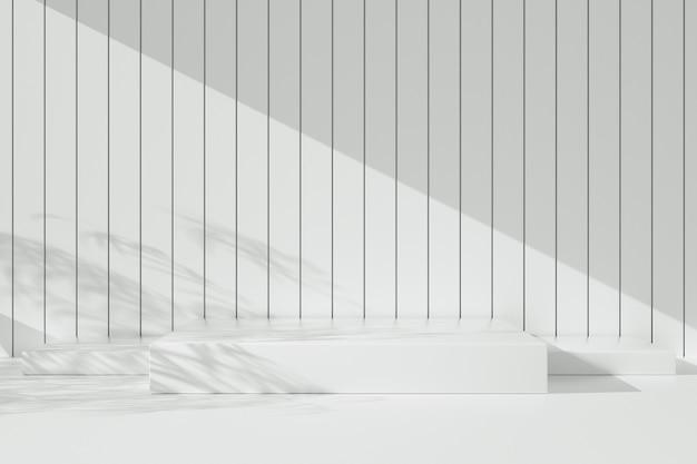 Vitrine blanche minimale abstraite