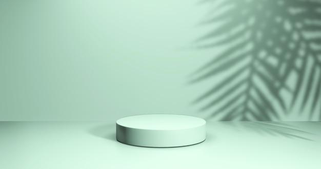 Vitrine minimaliste avec espace vide. podium vide pour le produit d'affichage. rendu 3d.