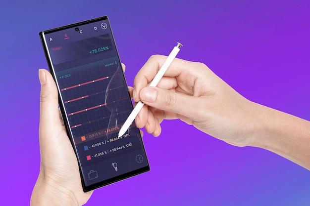 Vitrine de produit d'écran de téléphone portable