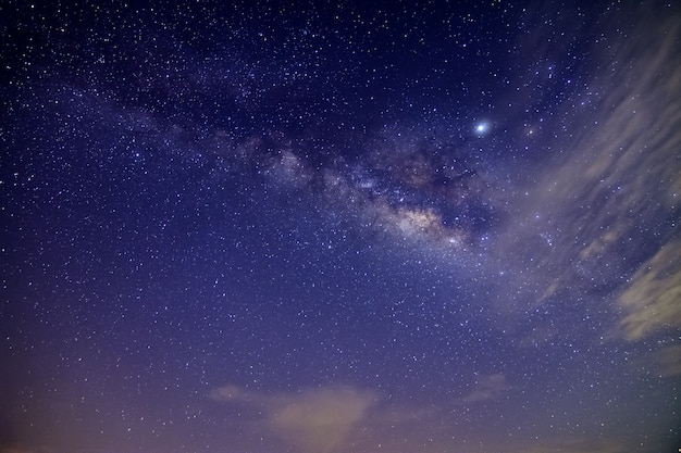 Voie lactée dans le ciel nocturne