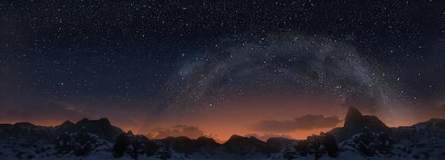 Voie lactée. vue panoramique 3d