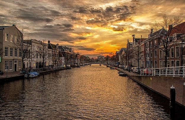 Voie navigable canal de souffrance hollande