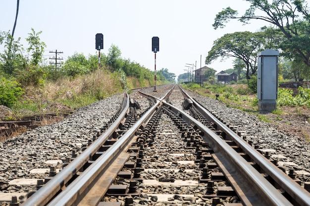 La voie à suivre ferroviaire de détail