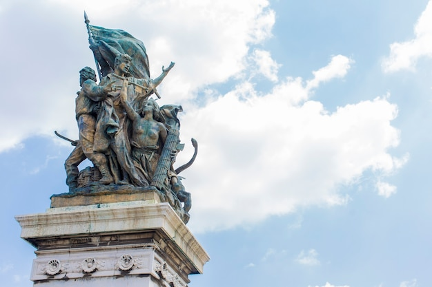 Voir au monument à vittoriano à rome