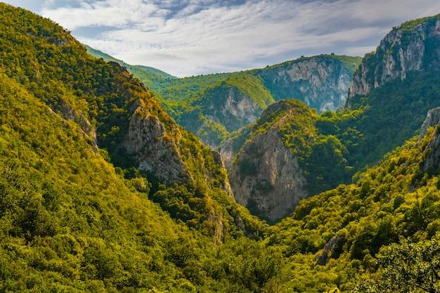 Voir à lazar's canyon près de bor dans l'est de la serbie