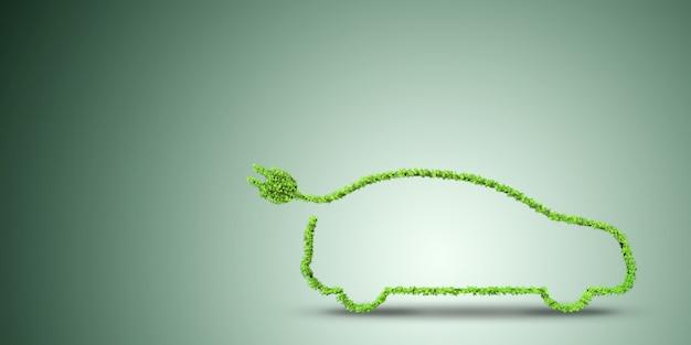 Voiture électrique dans un environnement vert