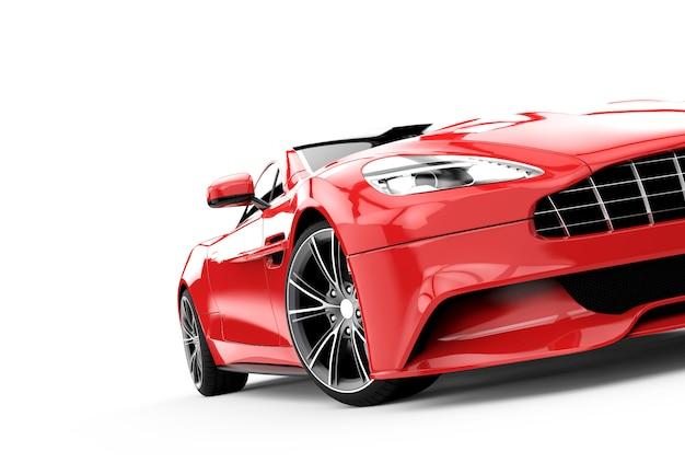 Voiture de luxe rouge isolée sur blanc