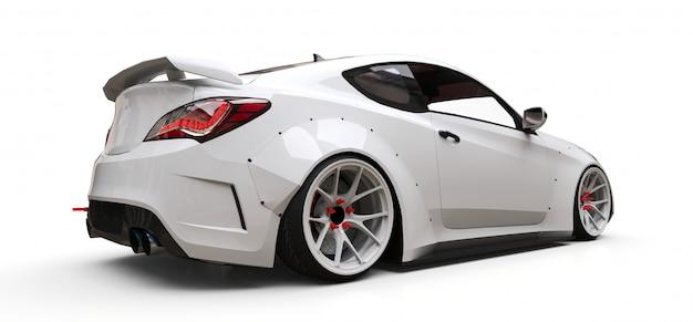 Voiture de sport coupé blanc