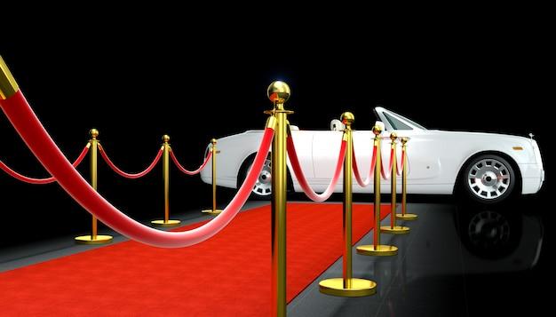 Voiture et tapis rouge